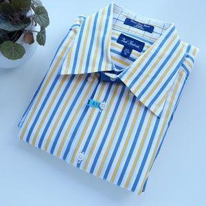 Paul Fredrik Shirts - Paul Fredrick Mens XL Cotton Striped Dress Shirt